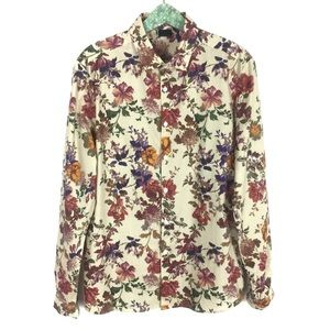 ASOS Button Down Shirt Floral Large Long Sleeve